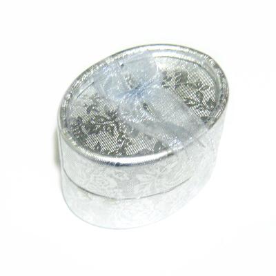Cutie cadou, argintie, ovala,  6x4x3.5cm 1 buc