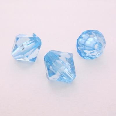 Margele plastic, biconice albastru deschis, 10mm 10 buc