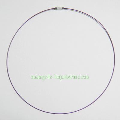 Baza colier, sarma siliconata, violet, cu inchizatoare 1 buc