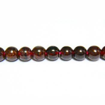 Granat sferic, 3.5mm 1 buc