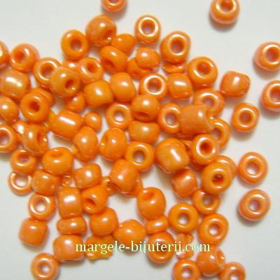 Margele nisip, portocalii, perlate, 4mm 20 g