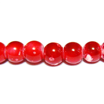 Margele sticla rosii, galactic, 6mm 10 buc