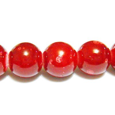 Margele sticla rosii, galactic, 12mm 1 buc