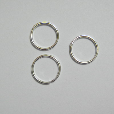 Zale simple placate cu argint, 12mm, grosime 1mm 10 buc