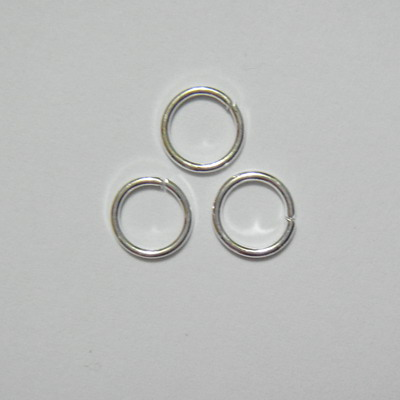 Zale simple placate cu argint, 8mm, grosime 1mm 10 buc