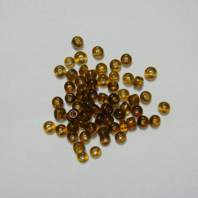 Margele nisip maro transparente, 3mm 20 g