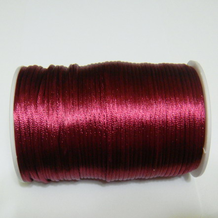 Snur saten bordo 2mm 1 m