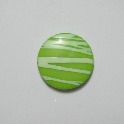 Margele plastic verde, disc 20mm 1 buc