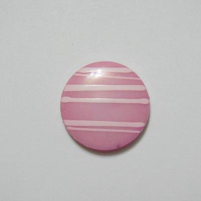 Margele plastic roz, disc 20mm 1 buc