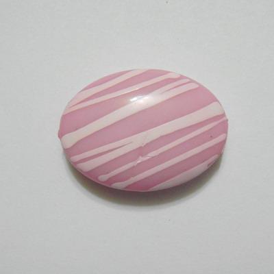 Margele plastic roz, disc 25x20mm 1 buc