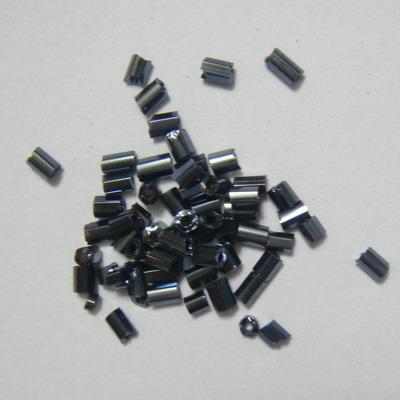 Margele nisip tubulare culoare hematit, 3-4mm 20 g