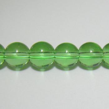 Margele de sticla verzi, transparente, 8 mm 10 buc