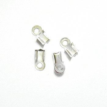 Capat prindere snur argintiu 12x5mm, interior 4mm 10 buc