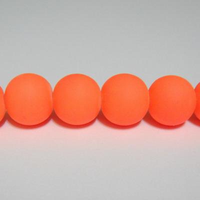 Margele sticla cauciucate, portocalii, 12mm 1 buc