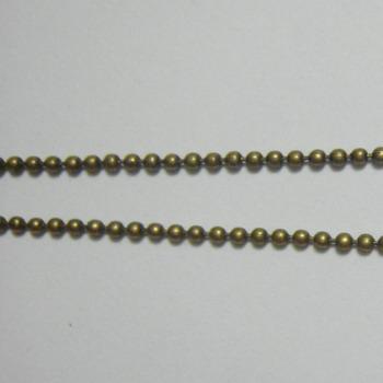 Lant bronz cu bobite 1.5mm 1 m