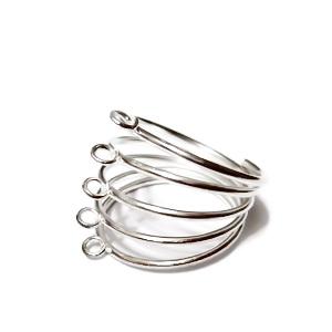 Baza inel argintie 5 spirale 1 buc