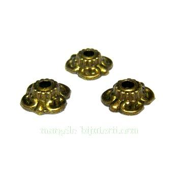 Capacel bronz 4 petale, 9mm 1 buc