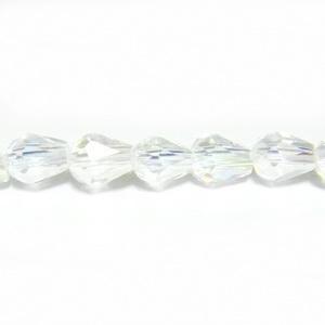 Margele sticla multifete AB, lacrima 7x5 mm 1 buc