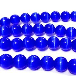 Ochi de pisica albastru-cobalt, 8 mm 1 buc