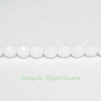 Agata alba multifete, 4mm 1 buc