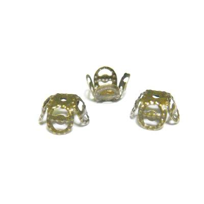 Capacel bronz 4 petale, 9x4 mm 10 buc