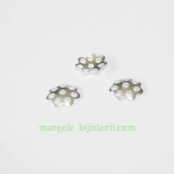 Capace filigran argintii, 6x1mm-1 gram(40-45 buc) 1 g