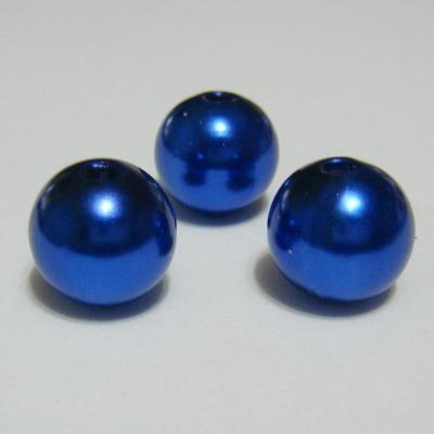 Perle plastic albastre, 12mm 1 buc