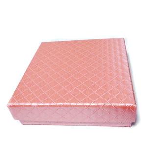 Cutie cadou roz, 8.5x8.5x2.5cm 1 buc