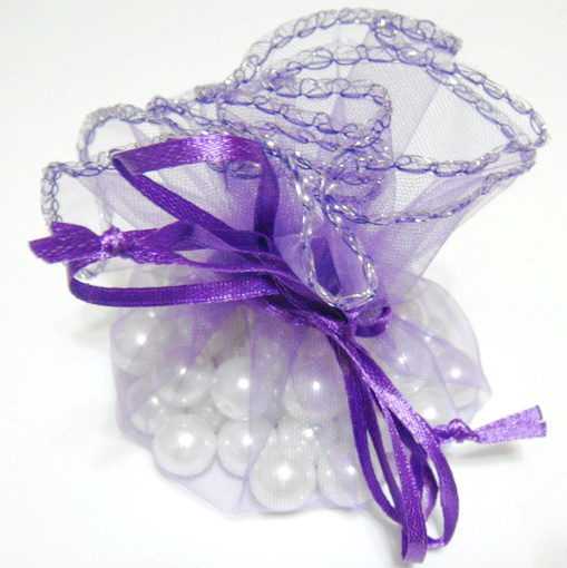 Saculet organza violet, diametrul 24 cm 1 buc