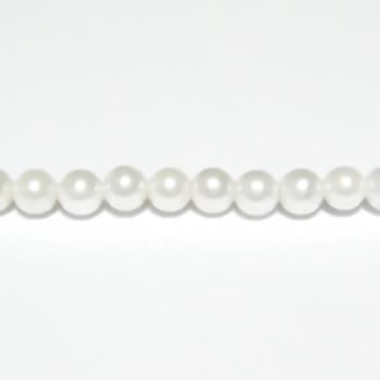 Perle stil Mallorca, albe, 4.5mm 1 buc