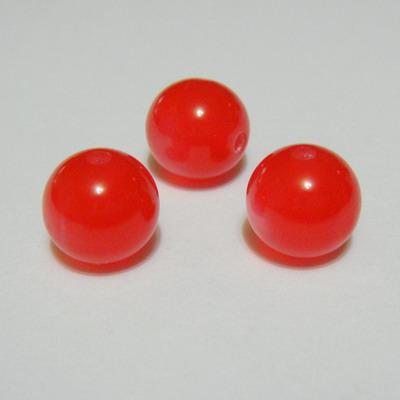 Margele rasina rosii, imitatie ochi de pisica, 12mm 1 buc