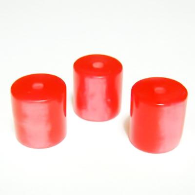 Margele rasina rosii, imitatie ochi de pisica, tub 11x10mm 1 buc