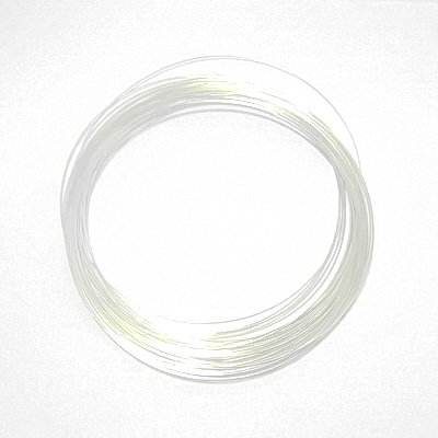Sarma memorie colier argintiu inchis, diametrul 12 cm 10 buc