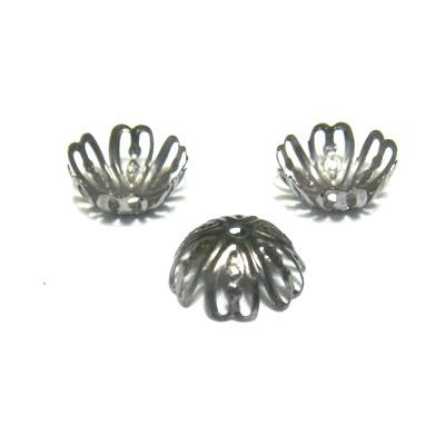 Capacele filigran negre, cu 6 petale, 12x5 mm 10 buc