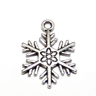 Pandantiv argint tibetan, fulg de nea,  26x19mm 1 buc