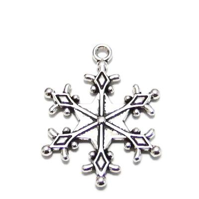 Pandantiv argint tibetan, fulg de nea, 28x22x2mm 1 buc