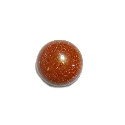 Cabochon piatra soarelui maro, 12x6mm 1 buc