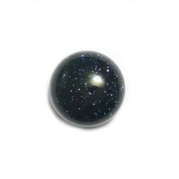 Cabochon piatra soarelui bleu, 12x6mm 1 buc
