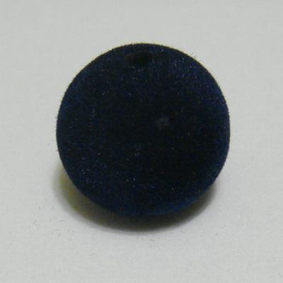 Margele din plastic in catifea bleu-inchis, 22mm 1 buc