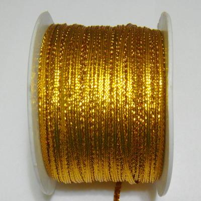 Fir lurex auriu, plat, 3mm 1 m