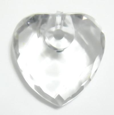 Pandantiv plastic transparent, multifete, 26x26x12mm 1 buc