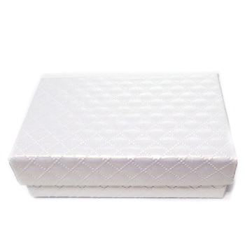 Cutie carton, alba, sidefata, 8x4.5x2.5cm 1 buc
