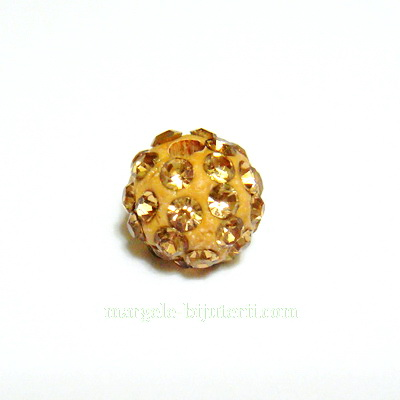 Margele shamballa aurii, 8mm 1 buc