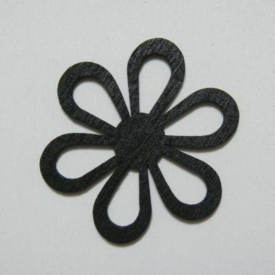 Pandantiv/conector lemn negru, 50x2mm 1 buc
