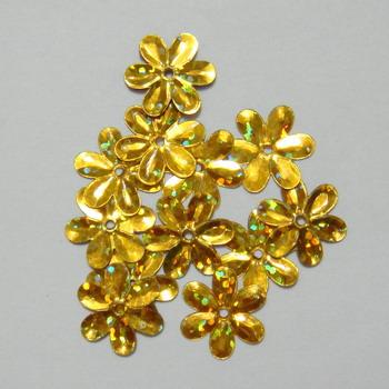 Paiete floricele aurii, 15mm-10 gr (200-220 buc) 1 buc