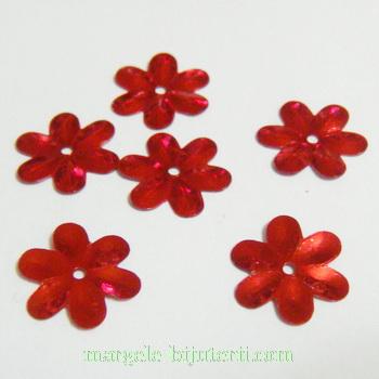 Paiete floricele rosii, 15mm-5 gr (100-110 buc) 5 g