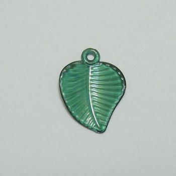 Frunzulite plastic verde inchis, 23x17x1mm 10 buc