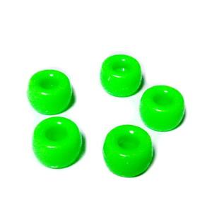 Margele plastic alb, ovale, 14x8mm, orificiu 1.5mm 1 buc