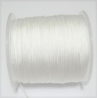 Snur matasos pentru bratari shamballa, alb,  grosime 0,8 mm 5 m