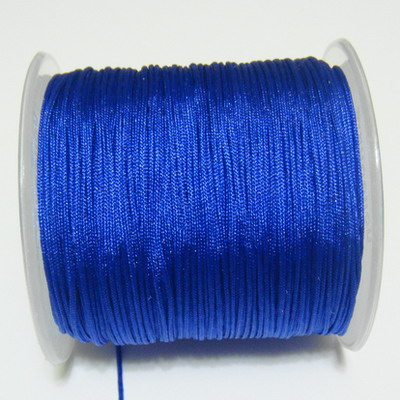 Snur matasos pentru bratari shamballa, albastra, grosime 0.8mm 5 m